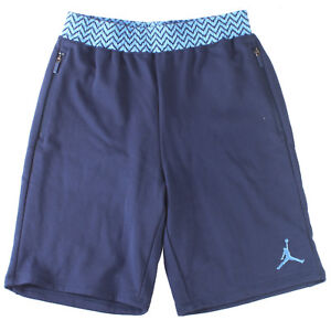 97a3de1b43ad19 Jordan AJ 12 French Terry Short Mens 724719-410 Navy Blue Fleece ...