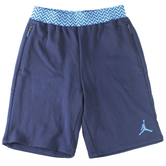 6eac6773fc2b7b Jordan AJ 12 French Terry Short Mens 724719-410 Navy Blue Fleece Shorts  Size S