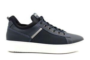 Nero-Giardini-A901292U-Blu-Sneakers-Casual-Sportive-Scarpe-Uomo
