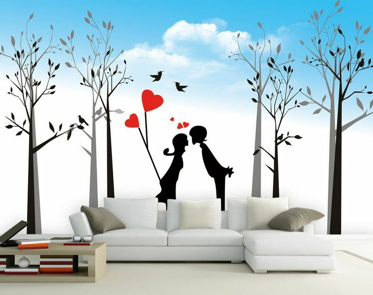3D Woods Young Couple 283 Wall Paper Wall Print Decal Wall Deco AJ WALLPAPER