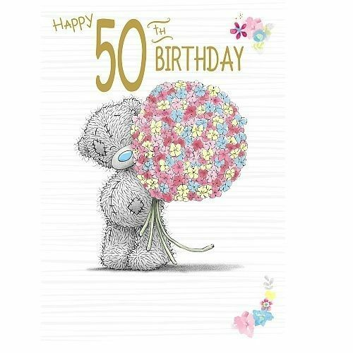Me To You Happy 50th Birthday Tatty Teddy Age 50 Greeting Card For