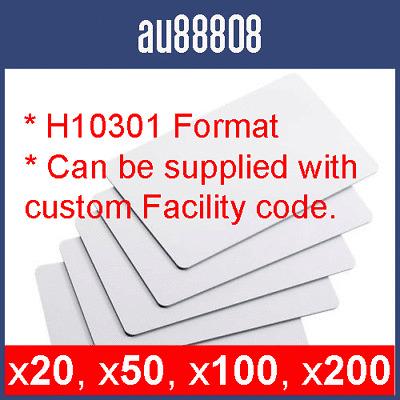 PROXIMITY CARDS WORKS WITH HID PROX KEYCARDS PROXCARD II SWIPE CARD H10301 WG26