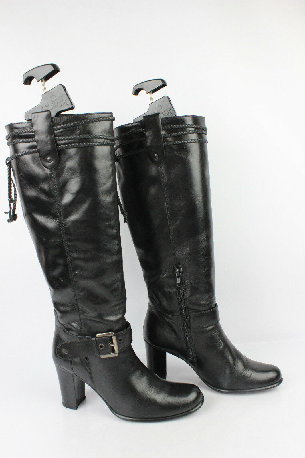 Boots SAN MARINA Leather Black T 38 VERY GOOD CONDITION