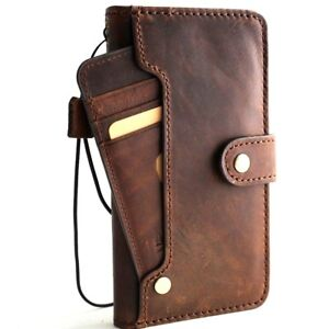 hot sales 4d0de 59858 Details about Genuine Leather Case for iphone 8 plus wireless charging  closure wallet book 7 s