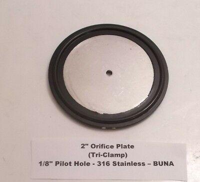"""BUNA TRI CLAMP ORIFICE PLATE GASKET 2/"""" 316 1//8/"""" HOLE"""
