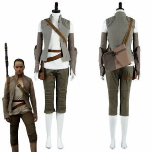 Star wars episode viii the last jedi rey outfit cosplay costume image is loading star wars episode viii the last jedi rey solutioingenieria Choice Image