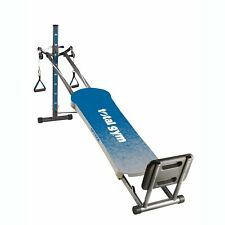 Total Gym Optima Full Body Workout Home Fitness Folding Exercise Machine Blue