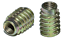 10Pc D-Nut//E-Nut Wood Insert Screws Hexagonal Socket Furniture Fixings ID1713