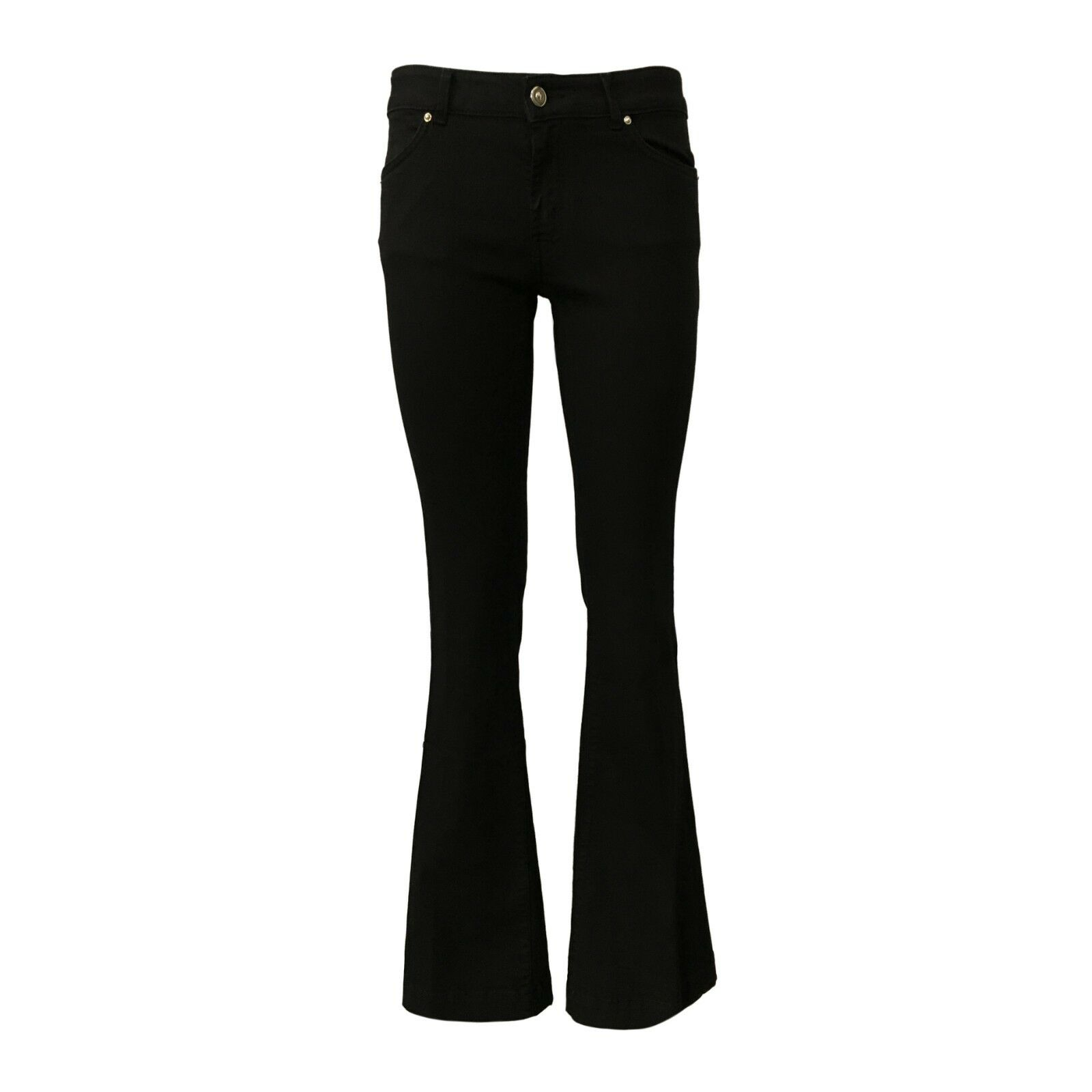 d5bcf798496f 7.24 jeans donna nero zampa con zip mod EVELYN MADE IN ITALY regolare vita  nvxugw3536-Jeans