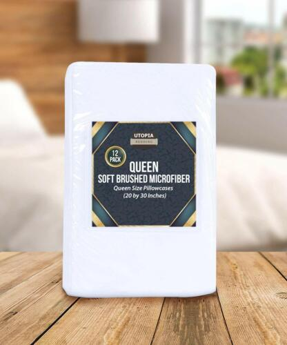 12 Pack Pillowcases King Queen Cushion Cover Utopia Bedding