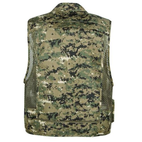 Herren Camouflage Sommer Anglerweste Jäger Arbeitsweste Camping Jacke Outdoor