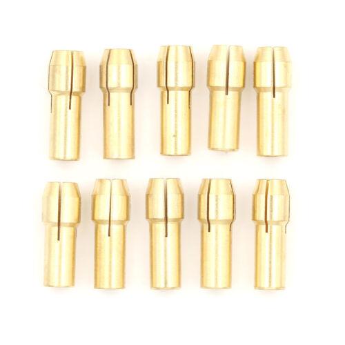 10pcs Brass Collet Mini Drill Chuck for Rotary Tool 4.8mm Dia 0.5mm-3.2mmU  xhPT
