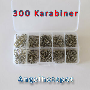 300-Karabiner-in-der-Box-MEGA-SET-Starter-Pack-DuoLockSnaps-Angelhotspot