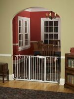 Regalo Extra Wide 58 Inch Widespan Walk Through Safety Gate, White , New, Free S on sale