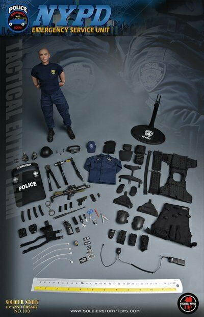 Soldier Story 1 6 Scale 12  NYPD ESU Tactical Entry Team Action Figure SS100