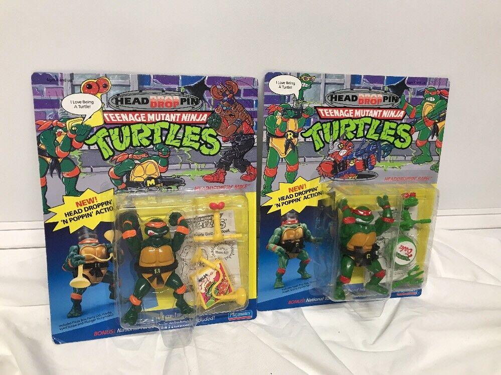 Tmnt kopf tropfen pin mike & ralph lot-2 teenage mutant ninja turtles 1991 unpunched