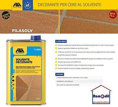 FILASOLV Solvente detergente decerante sgrassante smacchiante cotto FILA SOLV 1L | eBay