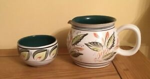 UNIQUE-DENBY-GLYN-WARE-MILK-JUG-amp-SUGAR-BOWL-GLYN-COLLEDGE-1