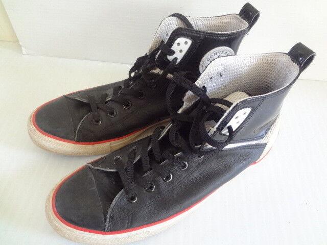 Converse Leather 136404C Black Whte Sneakers Walking shoes Size 9 (11) Unisex