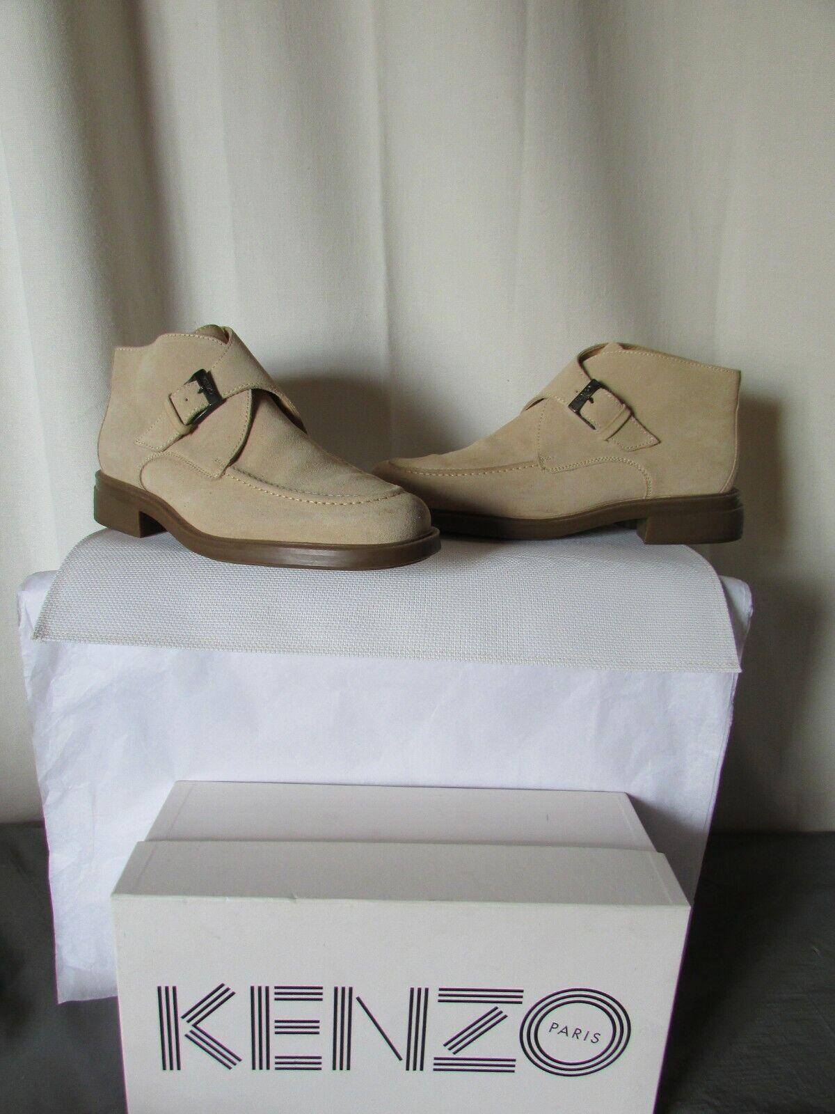 Kenzo Stiefletten Schuhe Nubuk 44 Beige 523afsqsn85394 Stiefel