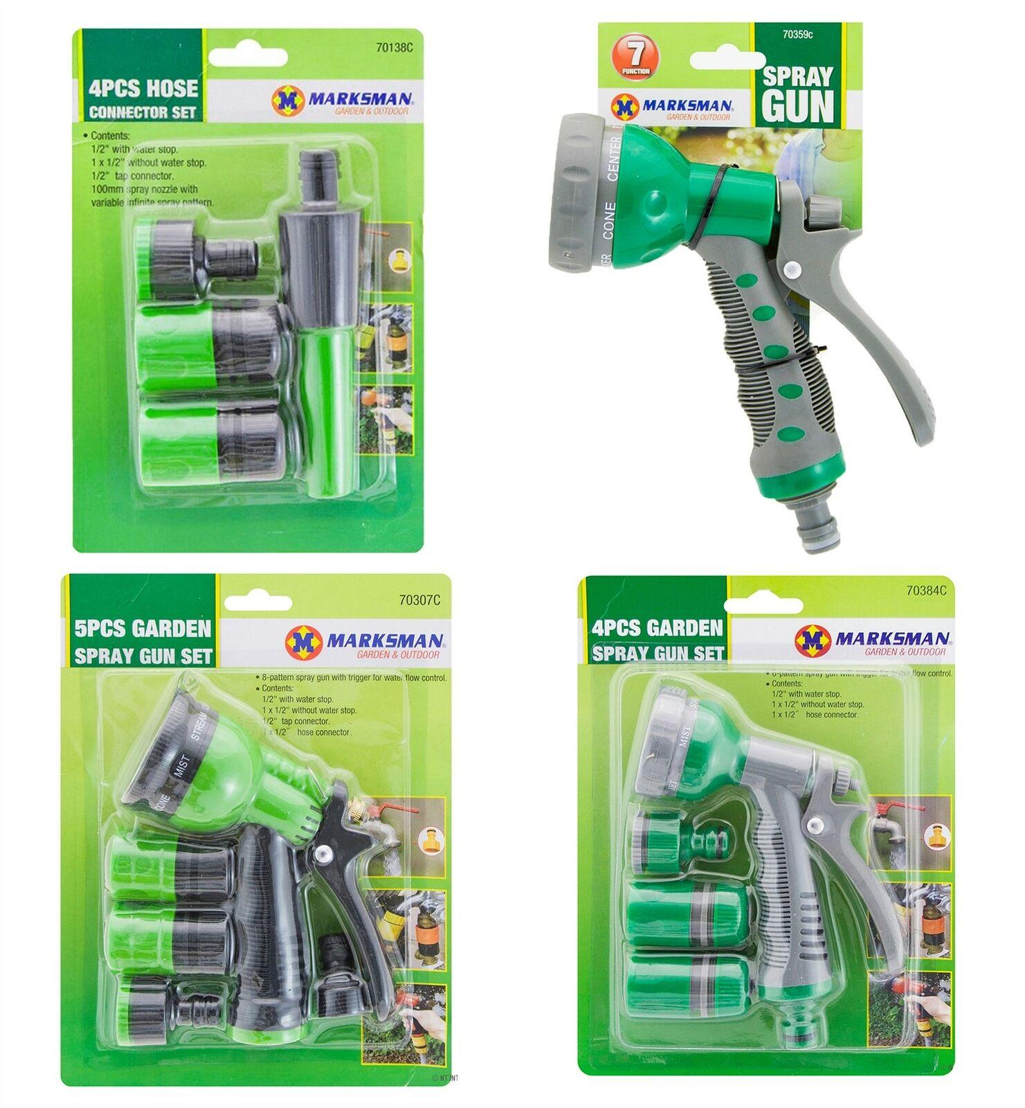 Hose Pipe Fittings Spray Nozzle Gun Sprinkler Garden Hosepipe Set Outdoor