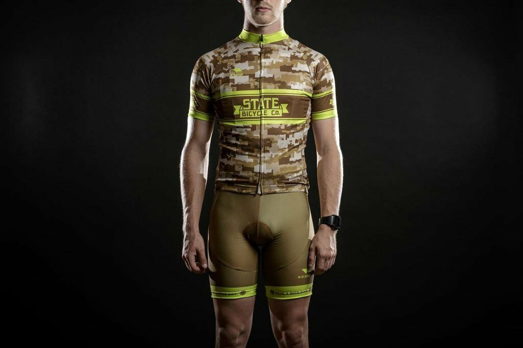 State Bicycle Co.   Camo Cycling  Jersey & Bibs  sale online discount