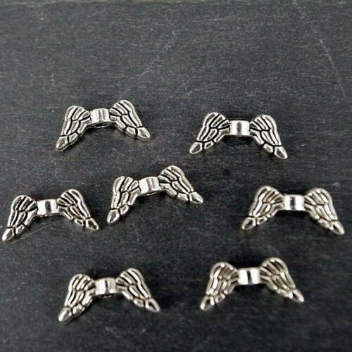 Angel Wings Charms petit Argent Antique Findings Charm CH12-Pack de 20