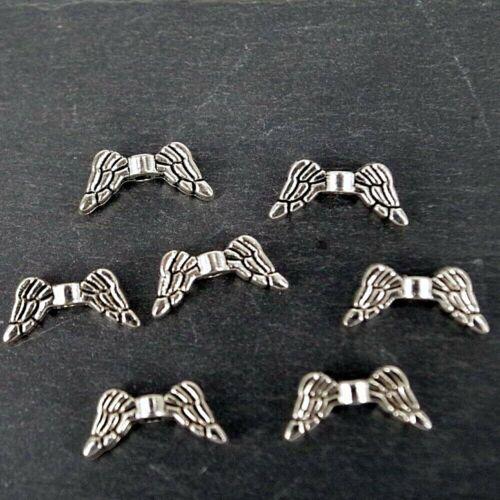Angel Wings Charms petit Argent Antique Findings Charm CH12-Pack de 20