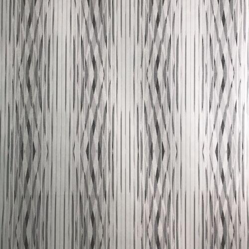 vinyl modern Wallpaper rolls textured stripes gray white silver geometric rolls
