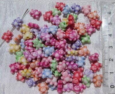 6mm Perle rondelle 6 x 4mm 50 Perles mixte intercalaires en acrylique