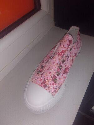 Womens Laceless Printed Plimsolls By Bpc Pink Uk Size 6 - 940075 Wir Haben Lob Von Kunden Gewonnen