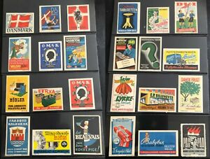 DENMARK-POSTER-STAMP-amp-PROPAGANDA-ADVERTISING-LABEL-COLLECTION-of-250-TOTAL