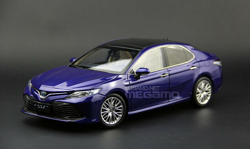 1 18 Toyota Nuevo Camry 2018 blu Diecast apertura total