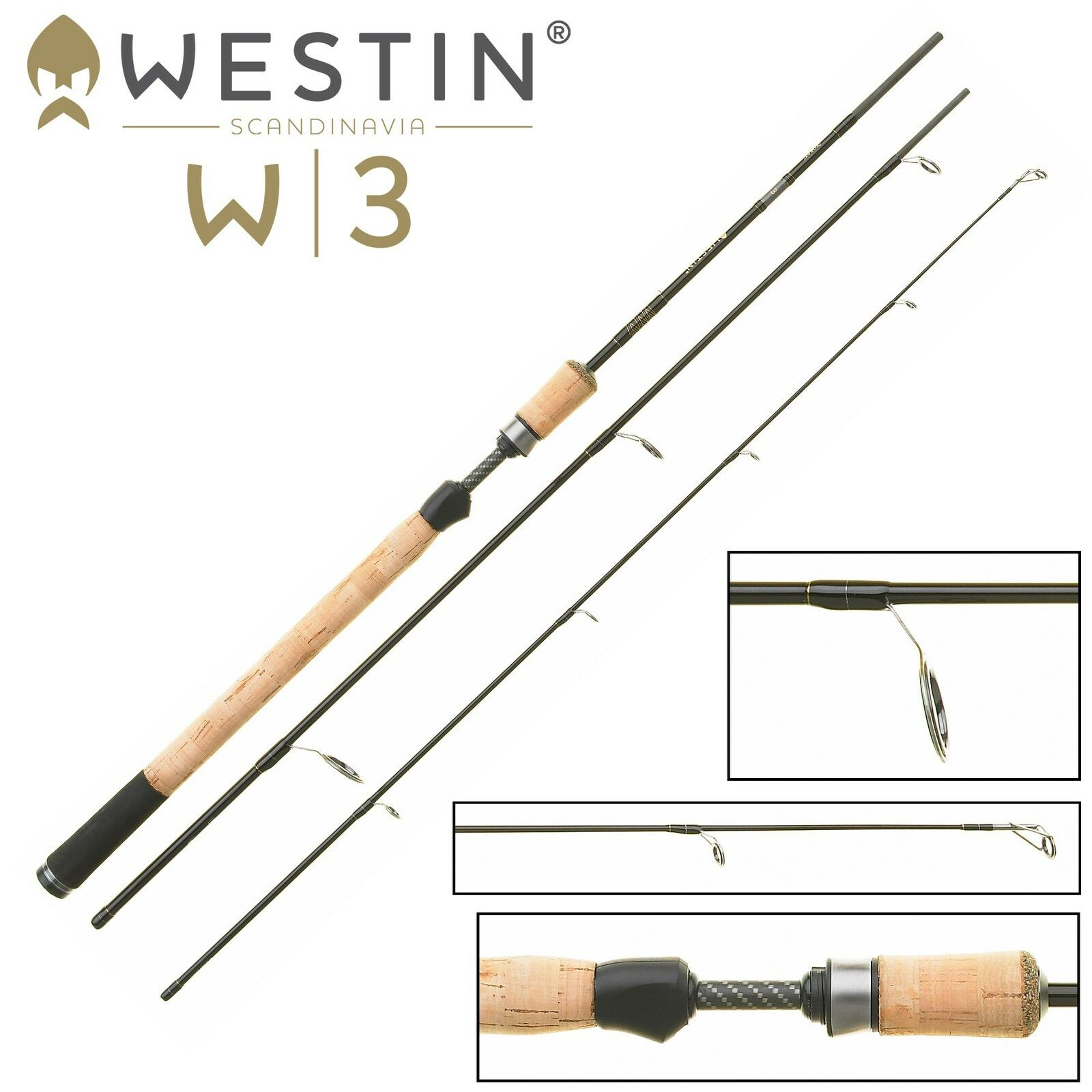 Westin Westin Westin w3 SPIN ML 210cm 5-25g - spinning per trota e persico, blinkerrrute 0ff2eb