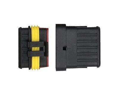 3-polig AMP Superseal KFZ Stecker Steckverbindung wasserdicht Auto LKW Boot✔ TOP