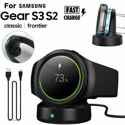 Also fit for Gear S2 Samsung Gear S3 Charger Bebetter Wireless Qi Charging Dock for Samsung Gear S3 Classic//Frontier Smartwatch