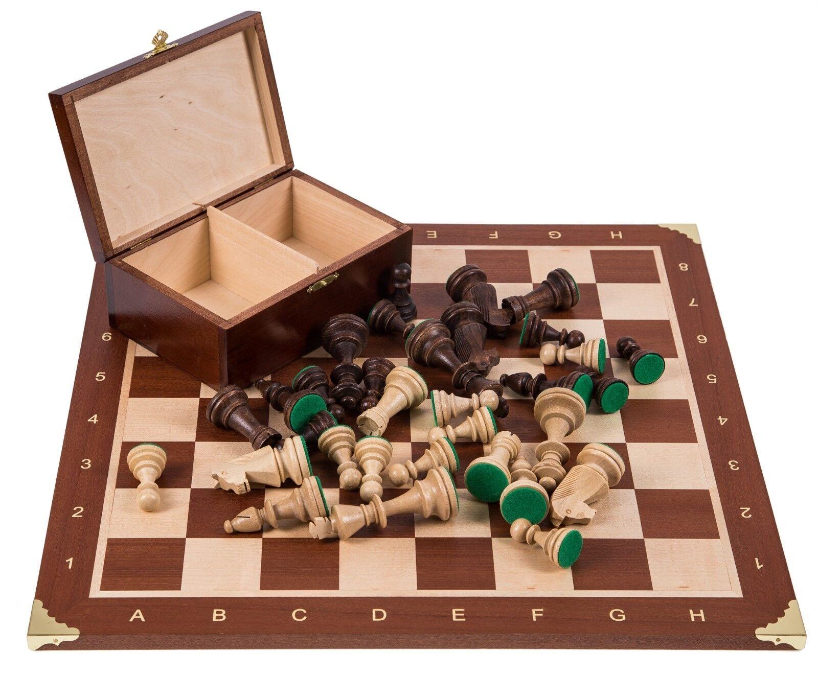 Square-pro De Madera Juego De Ajedrez Nº 5-Francia-tablero de ajedrez & piezas de ajedrez