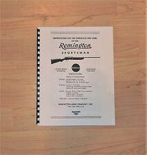 Remington Sportsman Shotgun - Operation and Care Manual - #104