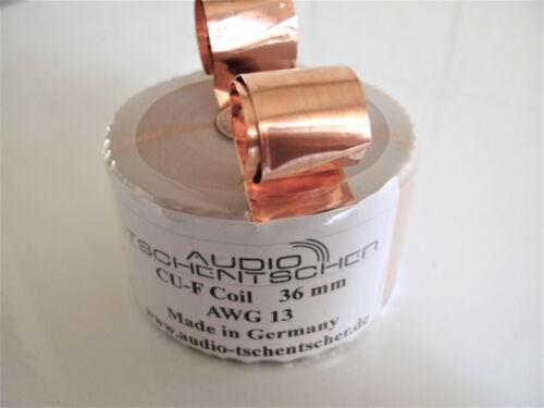 1 Audio-Tschentscher CU-F 36 mm 0,395 Ohm Folienspule Ribbon Coil 2,70 mH