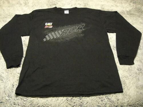 CAT RACING ~ Large ~ RCR Richard Childress Long Sleeve Team Issued Worn T Shirt