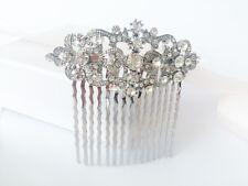 IVY Great Gatsby Bridal Hair Comb Rhinestone, Slide Art Deco Vintage 1920s 1930s
