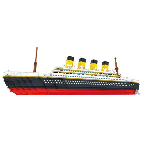 Building Star Titanic Big Cruise Ship Boat Mini Nano Blocks Diamond Building Toy