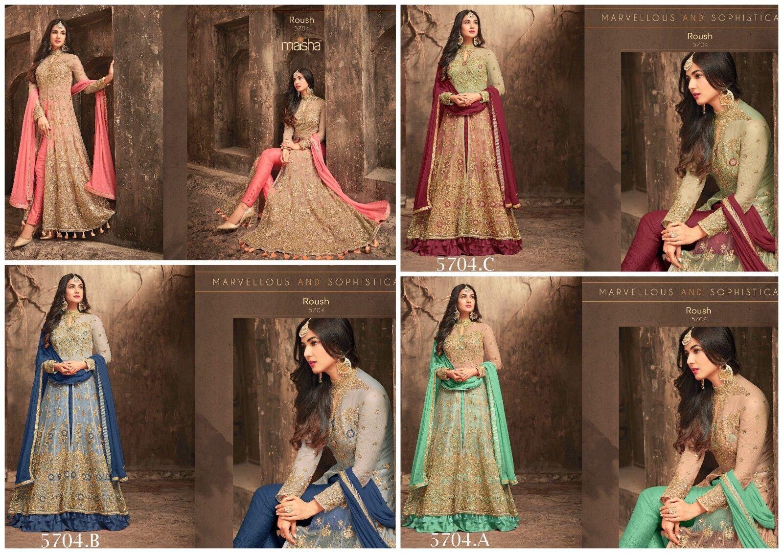 Indian Wear Salwar Suit Designer Bollywood Ethnic Wedding Anarkali Kameez FM