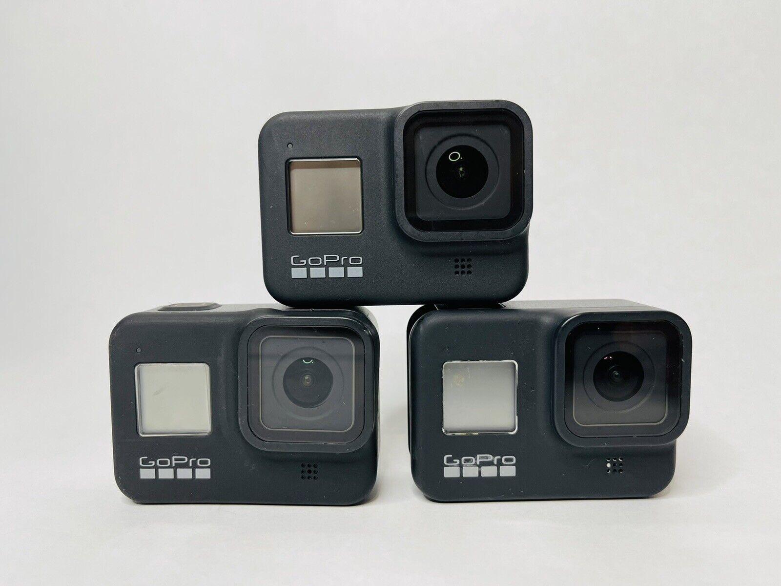 GoPro HERO8 Black Action Camera Lot Of 3 For Parts/Repair - NO POWER