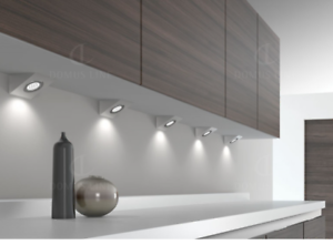 Kitchen under cabinet light unit cupboard glass haloge square halo image is loading kitchen under cabinet light unit cupboard glass haloge aloadofball Choice Image