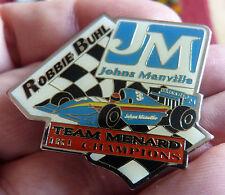 RARE PIN'S COURSE USA INDY CAR IRL F1 ROBBIE BUHL CHAMPION TEAM MENARD JM