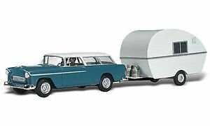 WOODLAND-SCENICS-N-SCALE-THOMPSON-039-S-TRAVELIN-039-TRAILER-BN-5328