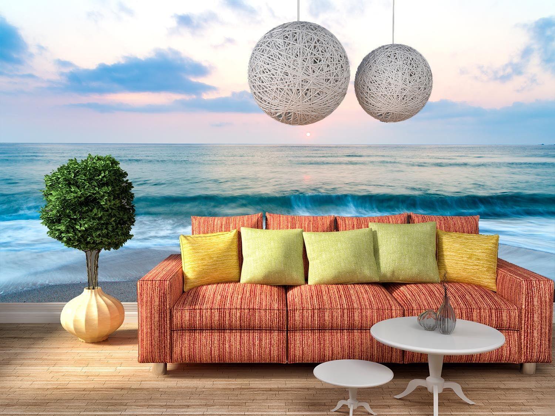 3D Dusk Beach Scenery 3 Wall Paper Wall Print Decal Wall Deco Wall Indoor Murals
