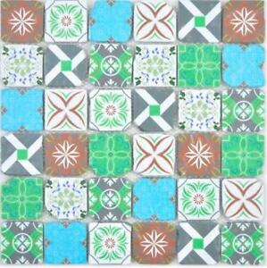 Crystal Glasmosaik Retro Vert Bleu Multicolore Mur Cuisine ...