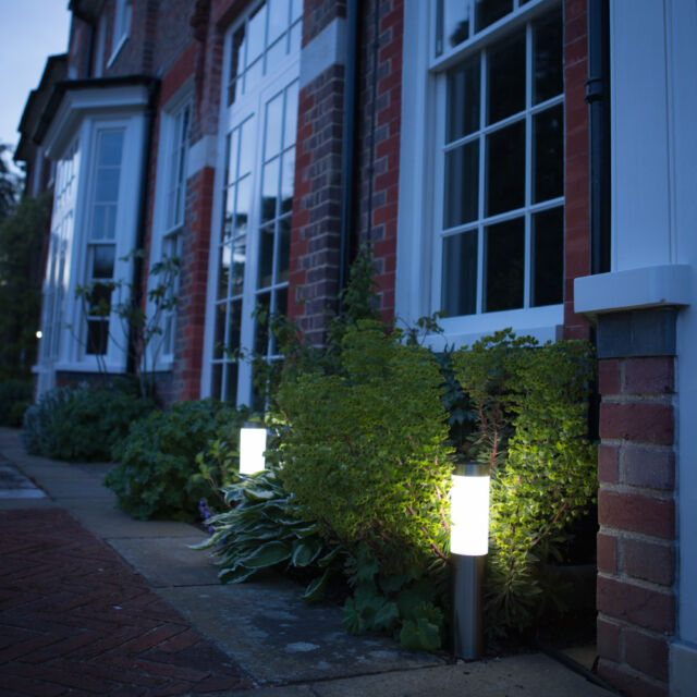 London Solar Post Lights Garden Path, Decking Patio 2 Pack By The Solar Centre
